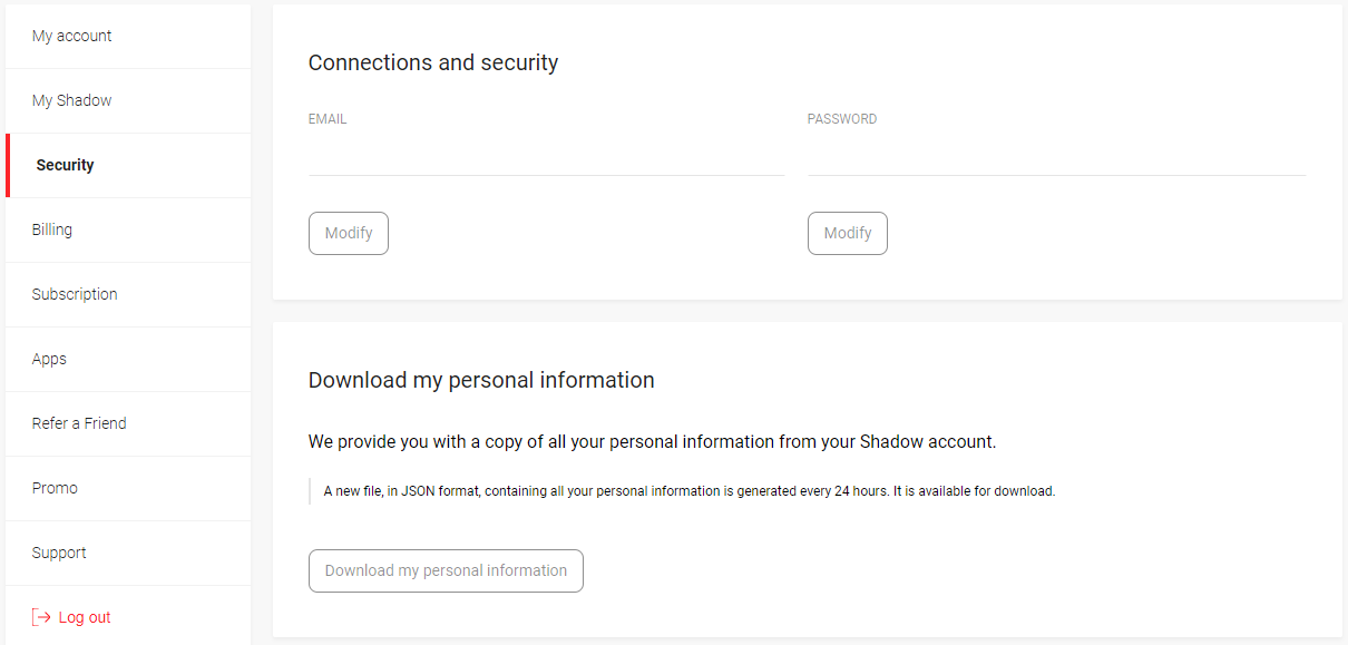How to download your data – Shadow - Support (EN)